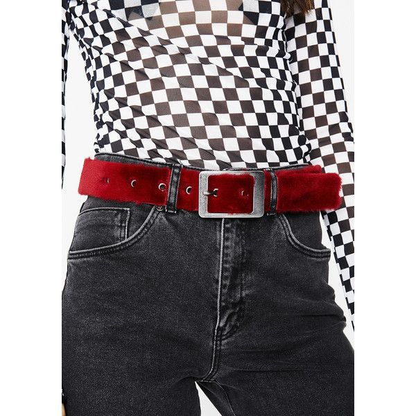 Furry Wide Buckle Belt ($10) ❤ liked on Polyvore featuring accessories, belts, red, wide silver belt, thick silver belt, wide belts, buckle belt and thick red belt