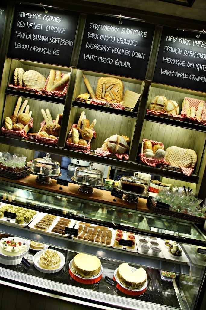 Kitchenette choices of desserts and breads