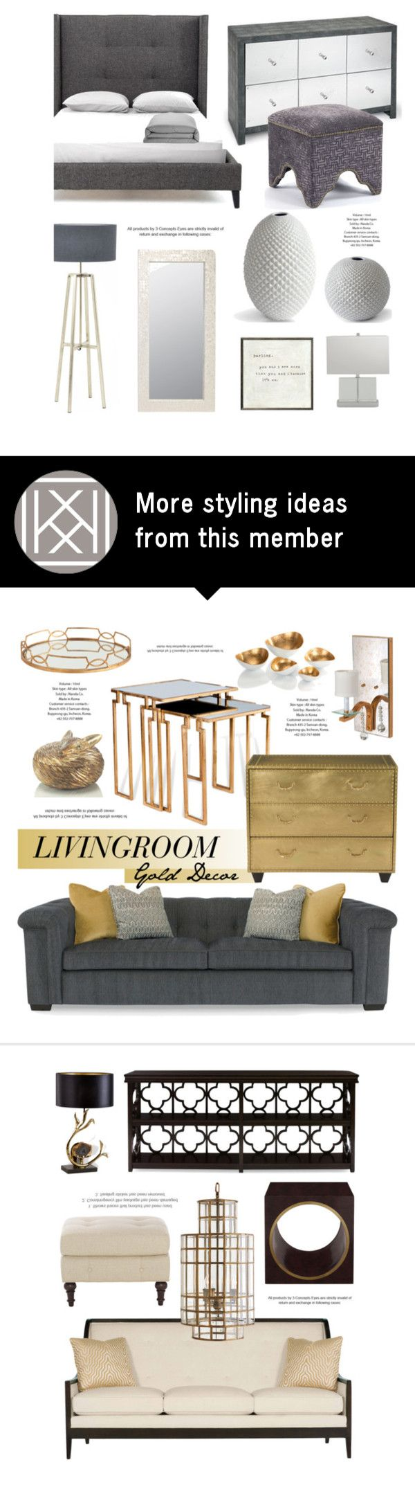 """""""Bedroom In Gray"""" by kathykuohome on Polyvore featuring interior, interiors, interior design, home, home decor, interior decorating, bedroom, Home, homedecor and homedesign"""