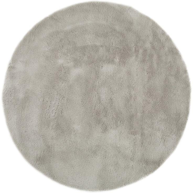 tapis rond gris clair pilepoil - Tapis Rond Color