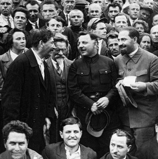 Stalin, Kalinin, Voroshilov and Kaganovich at the Sixteenth Congress of the CPSU, 1930