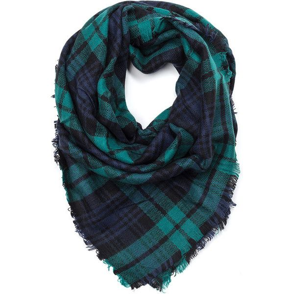 Plaid In Love Square Scarf GREEN ($19) ❤ liked on Polyvore featuring accessories, scarves, green, green shawl, plaid wraps shawls, tartan shawl, tartan scarves and green scarves