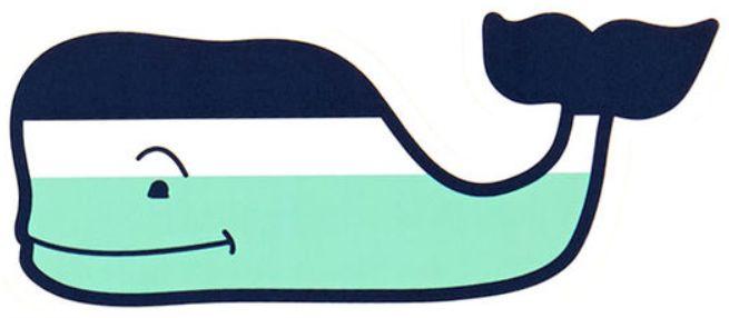 Vineyard Vines Navy, White and Aqua Striped Whale