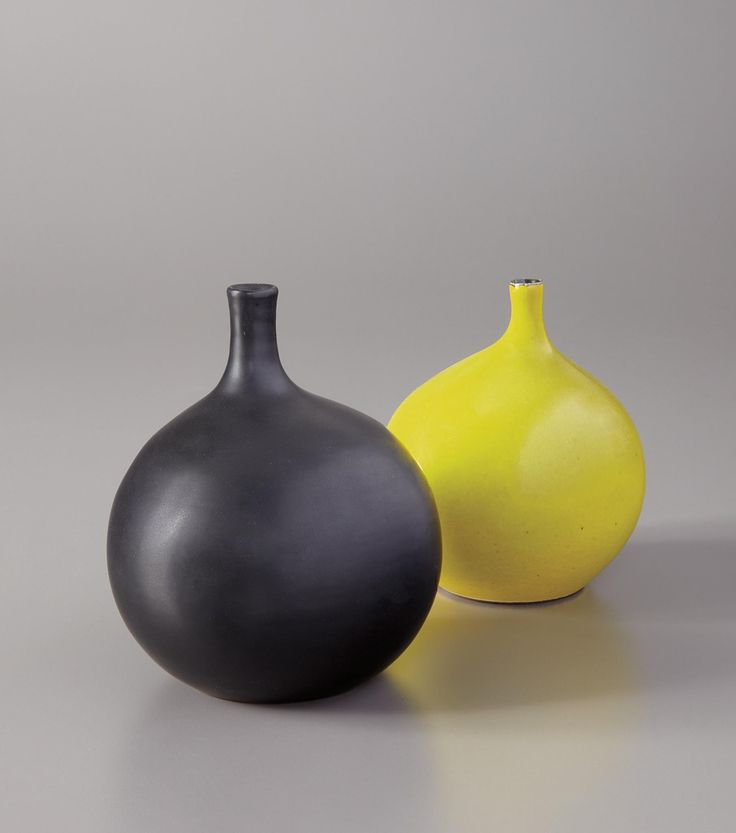 "Georges Jouve, Two ""Apple"" vases, c 1957, Glazed stoneware 