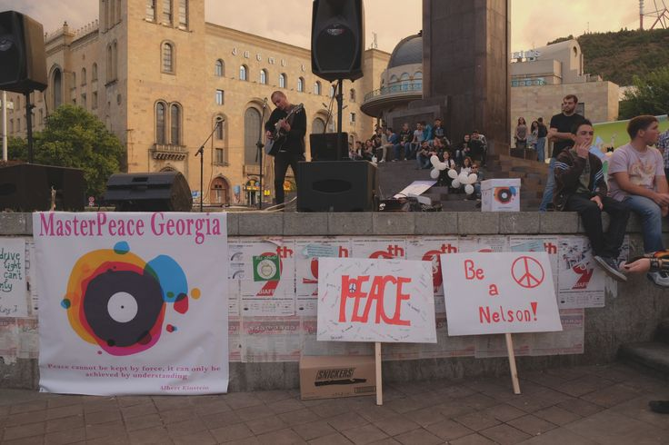 Tbilisi, 2014  music protest against the war in Ukraine