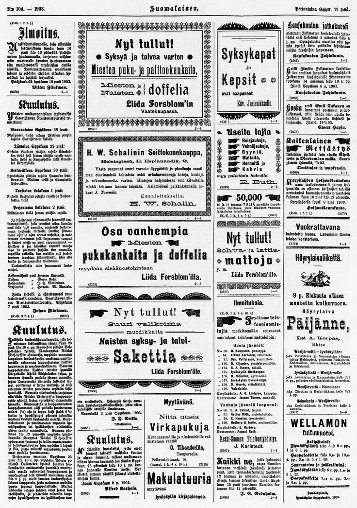 11.09.1903 Suomalainen no 104 - Sanomalehdet - Digitoidut aineistot - Kansalliskirjasto