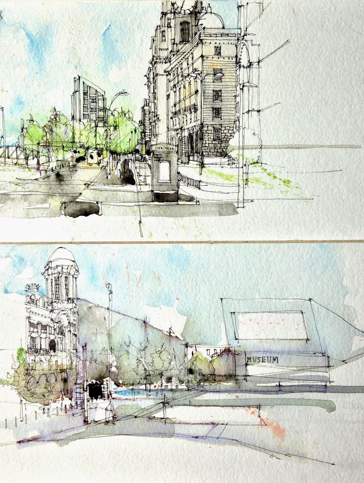 Downtown Liverpool, by Simone Ridyard http://www.urbansketchers.org/search/label/Simone%20Ridyard