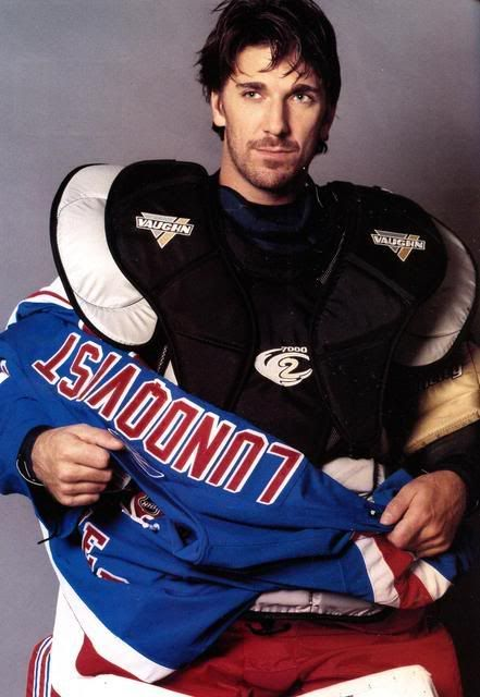 Henrik Lundqvist. Sexiest man in the NHL. Don't try to argue it. You will lose :) New York Rangers.