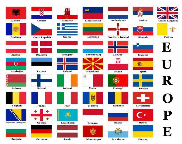 Banderas De Países Europeos Imagen De Stock Banderas De Europa Paises Y Sus Banderas Banderas Del Mundo Con Nombres