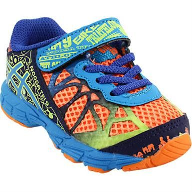 from Little Feet Childrens Shoes · Asics Baby Noosa Tri 9 in Flash Orange. # asics #asicskids #babyshoes #