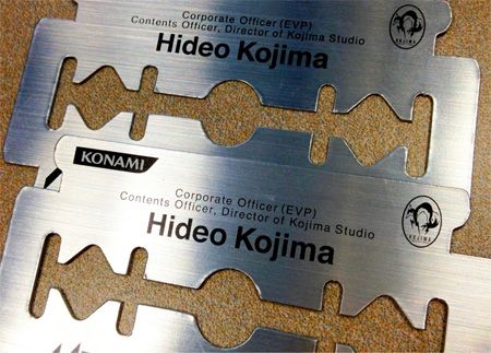 Razor Business Card  Dangerous business card of Hideo Kojima, creator of Metal Gear games.