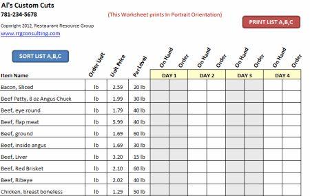 Restaurant Operations & Management Spreadsheets: Restaurant Resource Group: Restaurant Accounting, Operations Spreadsheets, Training Manuals, Invento