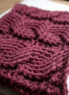Crochet Cables Free Pattern                                                                                                                                                      More