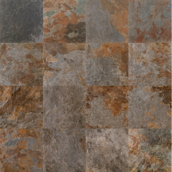 Azulev Slate Porcelain Tile Collection In Multicolor