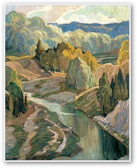 The Valley, Franklin Carmichael, 1921, Group of Seven