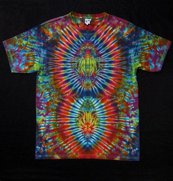 dyed tie dye t shirt psychedelic psytrance