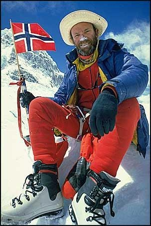 Norwegian businessman and mountaineer Arne Naess, Jr.