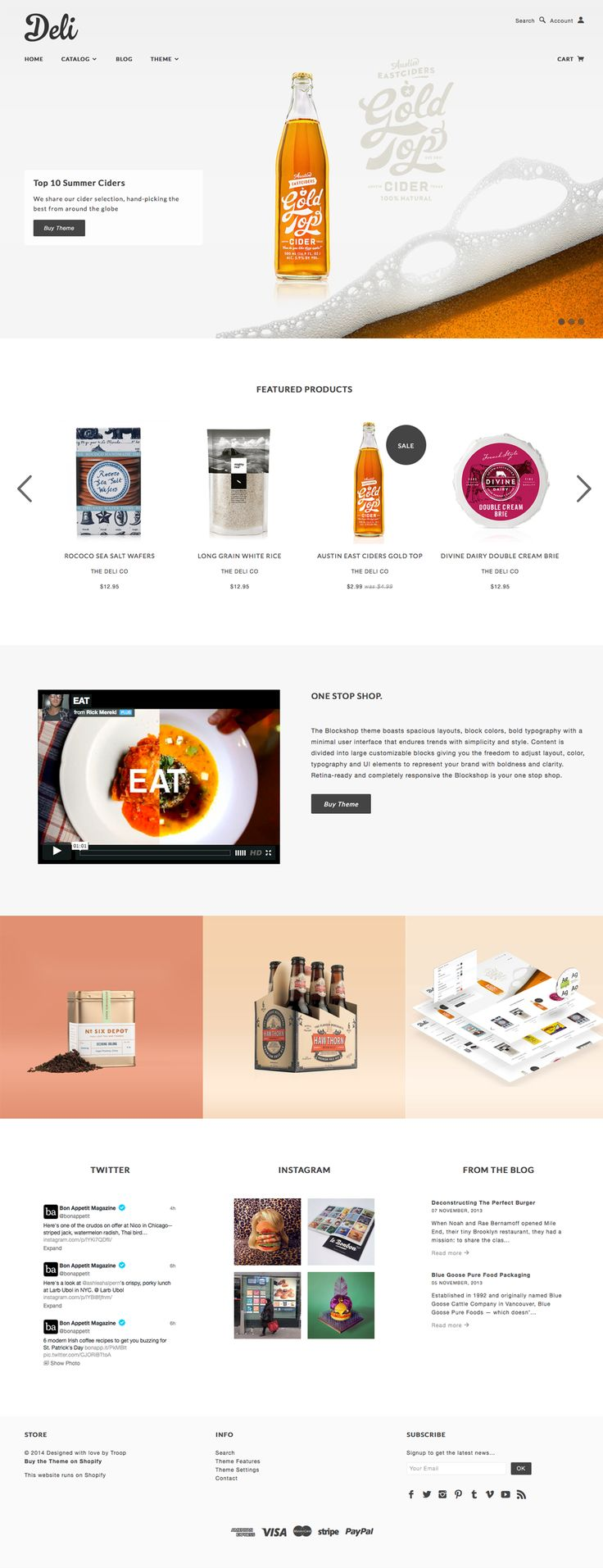 Blockshop | #webdesign #it #web #design #layout #userinterface #website #webdesign < repinned by www.BlickeDeeler.de | Visit our website www.blickedeeler.de/leistungen/webdesign