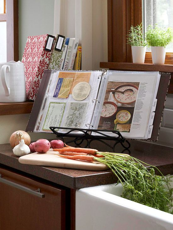 Tips for organizing your favorite recipes.