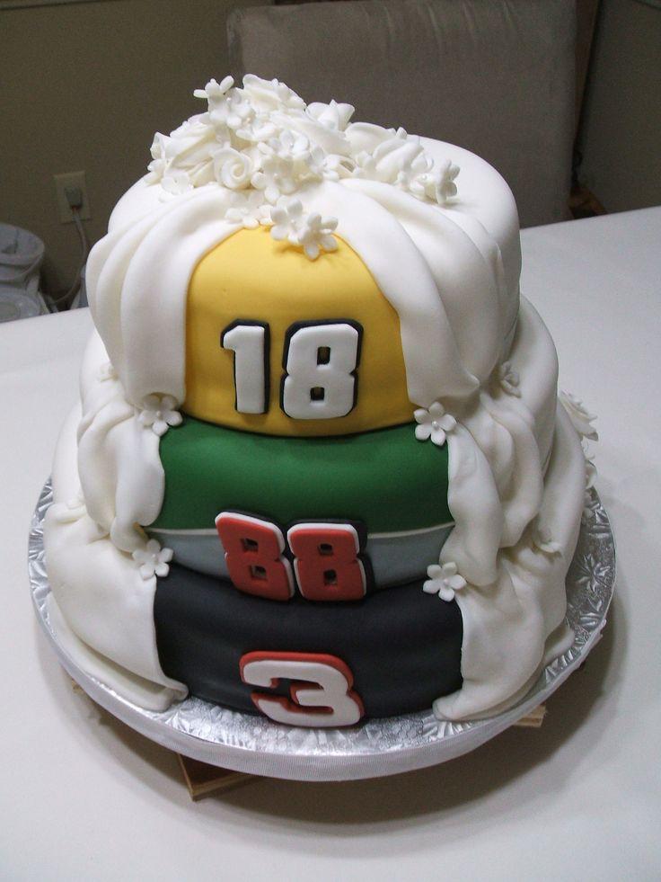 Nascar Side of Double Sided Wedding Cake