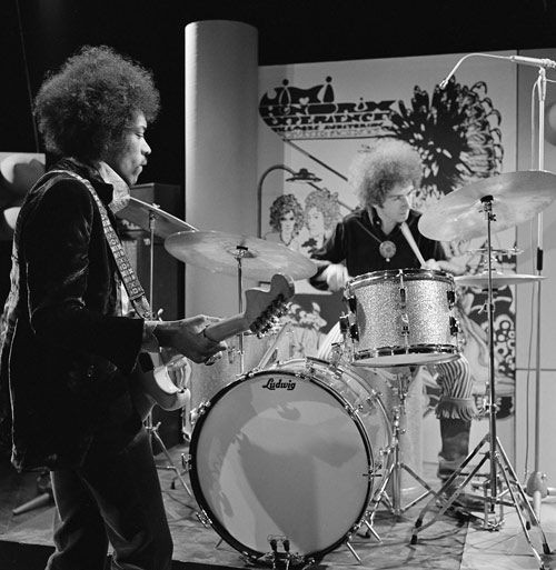 Drummerworld: Mitch Mitchell drummer with Jimi Hendrix.