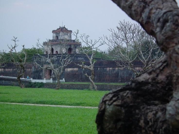 Glimpse of the Citadel, #Hue #Vietnam