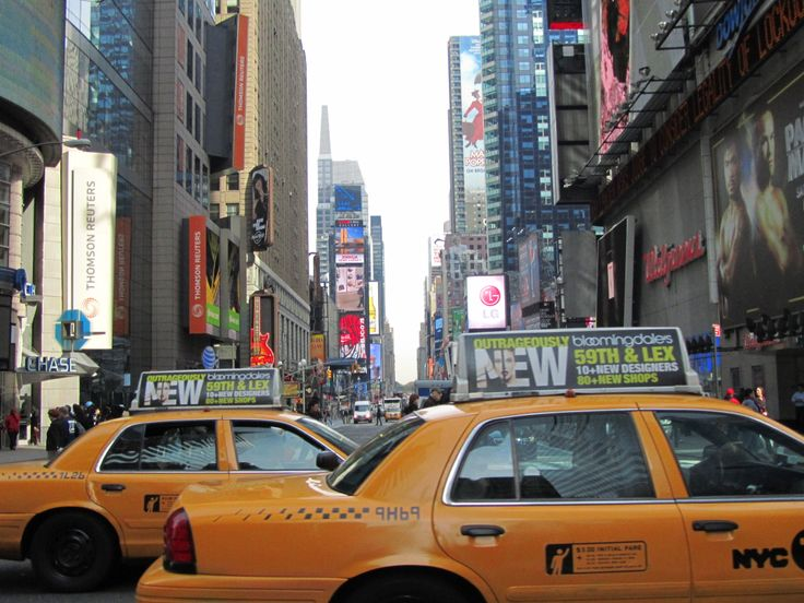 New York Yellow cabs in Times Square