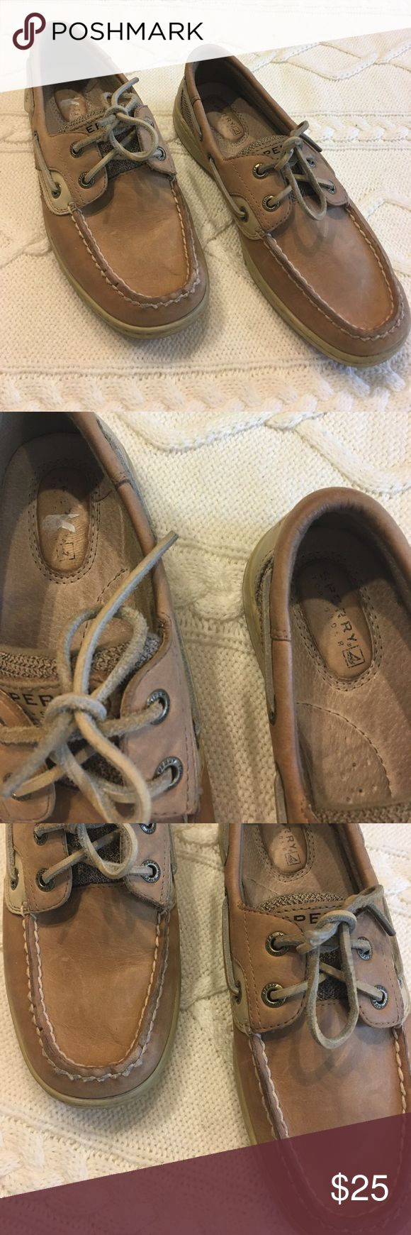 Classic Sperry Topsiders Classic Sperry Topsiders, size 6.5, a couple of spots, but overall good condition. Sperry Shoes Flats & Loafers