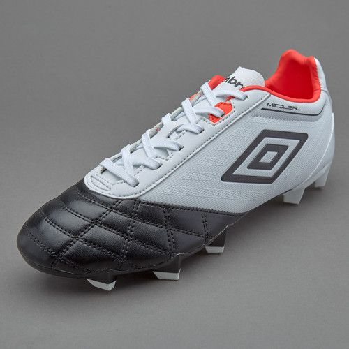 Sepatu Bola Umbro Medusae Club HG White Black Grenadine