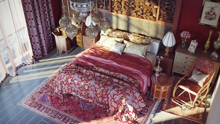 спальня в восточном стиле - Галерея 3ddd.ru