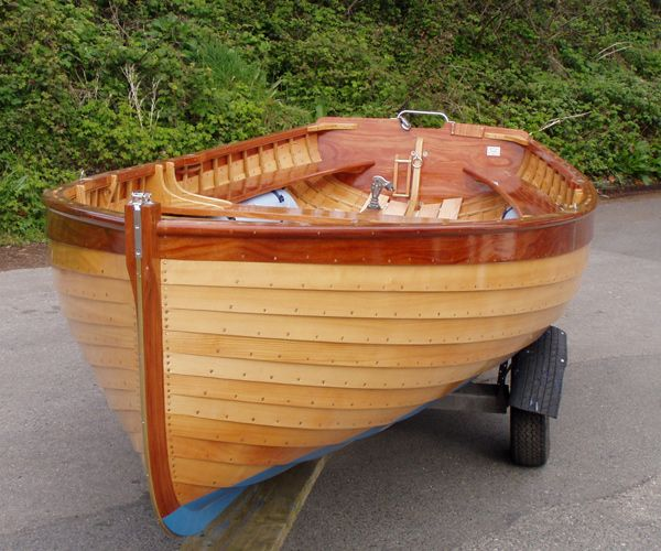 Fowey River Class Dinghy, wooden clinker varnished 15 ...