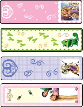 Bookmarks Tangled, Tangled, Bookmarks - Free Printable Ideas from Family Shoppingbag.com