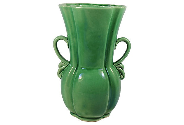 1960 Green Midcentury Vase from the US