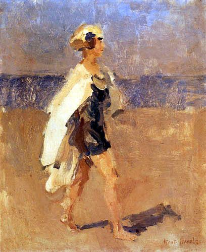 isaac israels | Lady on the beach