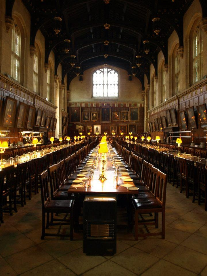 The dining hall of Christ Church, Oxford University [aka 'The Great Hall' of Hogwarts]