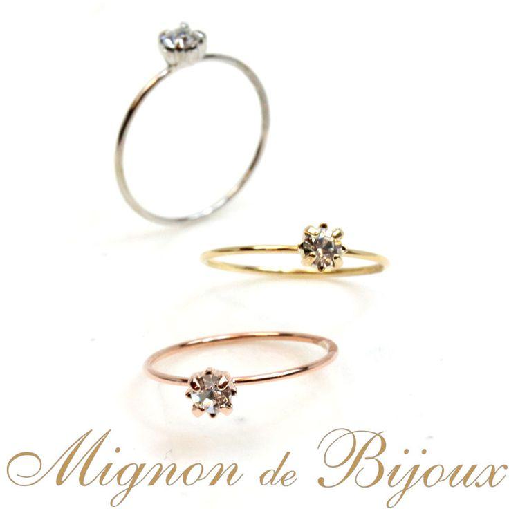 リング 指輪 レディース 300円 アクセサリー ファランジリング ミディリング 関節リングストーン付 ピンキーリング[Mignon de Bijoux][ミニョンドゥビジュー]【楽天市場】