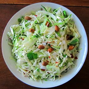 A simple, healthy coleslaw recipe with a twist that will be your new favorite potluck and barbecue contribution!