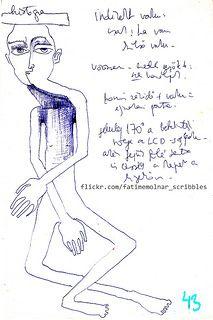 illustration drawing  sketch design ink drawing figure Fatime Molnar