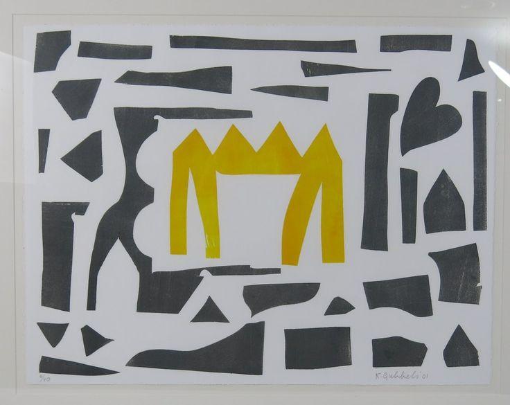 Klaas Gubbels: Houtdruk, Gele tafel