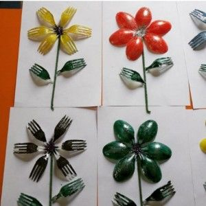 890 best forks spoons and knives images on pinterest for Crafts with plastic spoons and forks