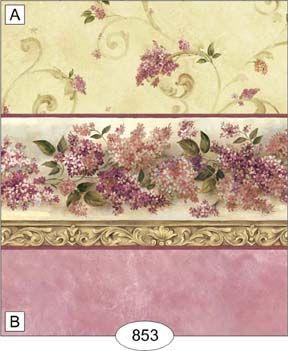 Wallpaper - Lovely Lilac - Burgundy