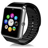 Smartwatch Android, DeYoun® Handy Uhr Bluetooth Smartwatch Uhr Fitness Armband mit Kamera SIM Karte Slot / NFC-Funktion für Samsung Galaxy S7 Edge S6 / S5 HTC LG Sony Huawei Android Telefon IPhone IOS [ Tlweise Fnktionen ]