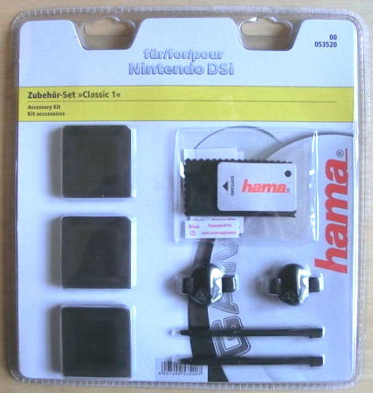 Zubehör-Set -Classic 1-,Schwarz,Nintendo DSi,Schutzfolien,Stifte,Game-Cases,Hama
