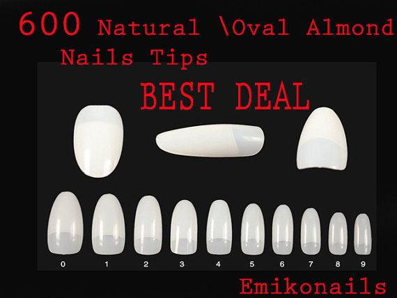 Best Deal SALE Full COVER 600 Blank NATURAL oval by emikonails