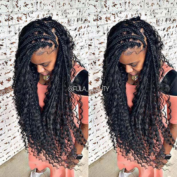 25 Trendy Goddess Box Braids Hairstyles Stayglam Box Braids Hairstyles Braided Hairstyles Box Braids Styling