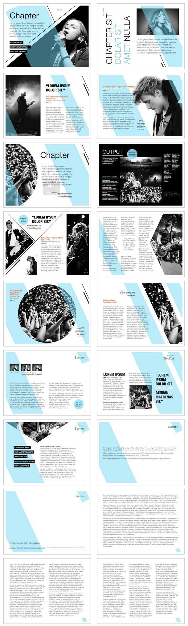 Ibook Author template | design | Pinterest