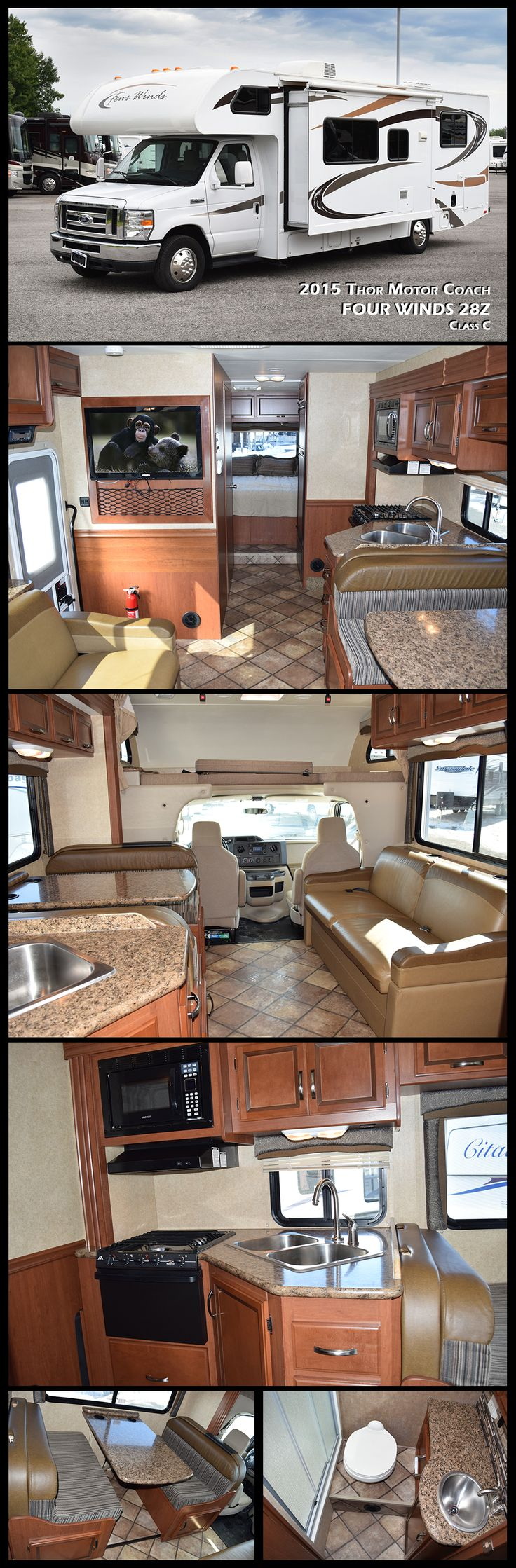 2015 thor motor coach four winds 18058 used class c rv for sale in north tonawanda new york