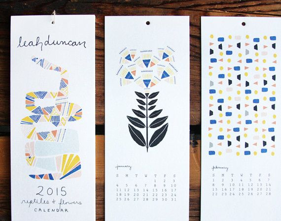 2015 12-Month Calendar by leahduncan on Etsy