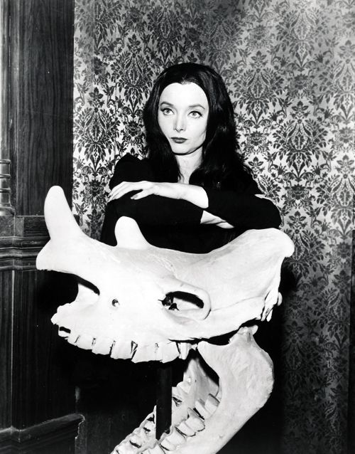 Carolyn Jones as Morticia Addams on The Addams Family (1960's)