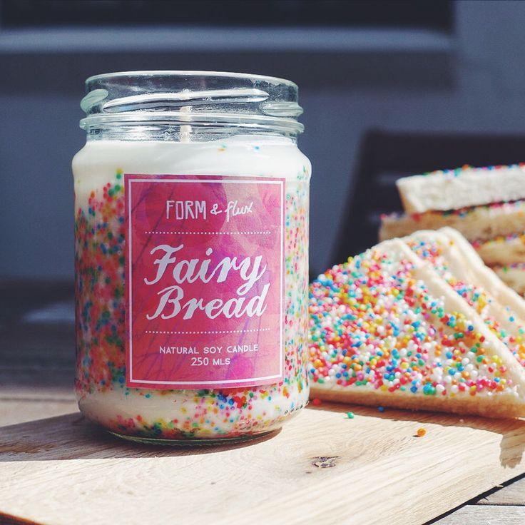 Fairy Bread - Jam Jar Candle by formandflux on Etsy https://www.etsy.com/au/listing/212378353/fairy-bread-jam-jar-candle